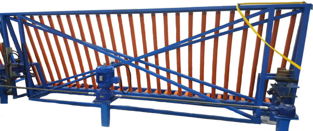 customized window conveyor system manufactured by Material Handling Systems, Inc (MHS CRANE)