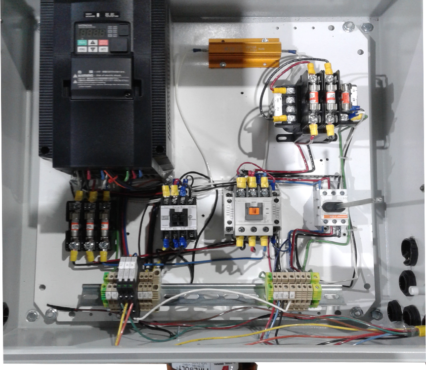Image of overhead crane control box manufactured by Material Handling Systems, Inc (MHS CRANE)