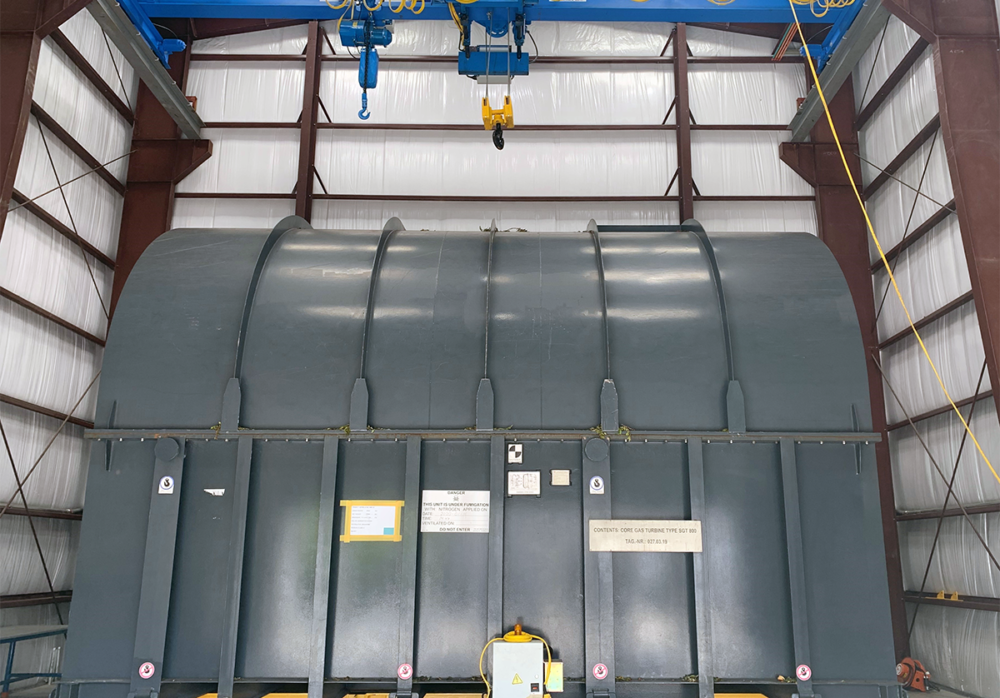 Overhead bridge crane and 60T electric transfer manufactured by Material Handling Systems, Inc. (MHS CRANE) for Seaboard management