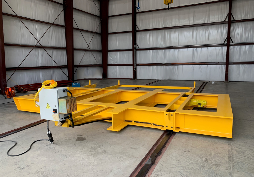 60 Ton electric transfer cart manufactured by Material Handling Systems, Inc. (MHS CRANE)