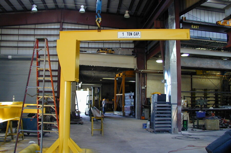 1 ton jib crane manufactured by Material Handling Systems, Inc. (MHS CRANE)